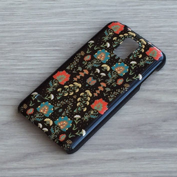 Floral ornament black iphone 6 case / iphone 6 plus case / Samsung galaxy S6 case / Samsung galaxy S5 case / iphone 4 5 5C, S4 note 3 note 4