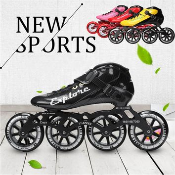 Worth! Carbon Fiberglass Inline Speed Skates Kid Adult Beginner New hand Speed Racing Train Street Racing Shoes JP Korea for MPC