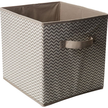 InterDesign Chevron Fabric Closet/Dresser Drawer Storage Organizer Cube for T...