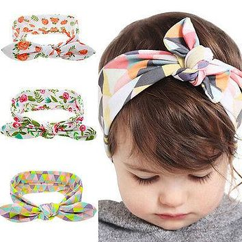 Summer Cute Kids Girl Infant Baby Headband Toddler Floral Bow Flower Hair Band Head wear