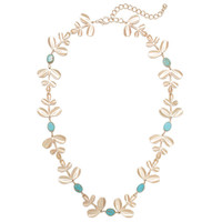 Turq Laurel Necklace | Jeweliq Statement Necklaces