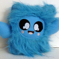 Stuffed Animal,  Cute Anime Inspired Creature,  Kawaii Plushie, Stuffed Toy Monster,Baby Blue, Adorable Stuffed Creature, Baby Blue