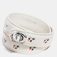 PRINTED DOUBLE WRAP TURNLOCK BRACELET