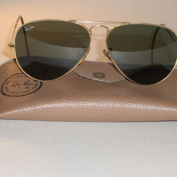 1980's VINTAGE BAUSCH & LOMB RAY BAN G15 GP UV WRAP-AROUNDS AVIATOR SUNGLASSES