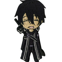 Sword Art Online Chibi Kirito Iron-On Patch