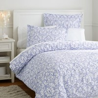 Damask Duvet Cover, Twin, Lavender