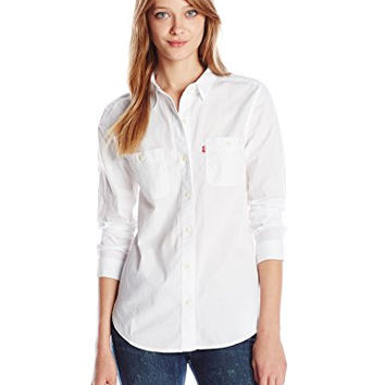 Best womens levi shirts products on wanelo for Crisp white cotton shirt