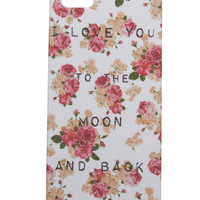 Love Floral iPhone 5 Case | Wet Seal