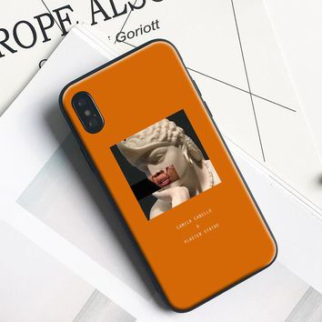 Camila Cabello Lips Plaster statue Soft Silicone Tpu Phone Case Cover Shell For Apple iPhone 5 5s SE 6 6s 7 8 Plus X 10