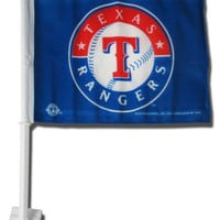 MLB Texas Rangers Car Flag