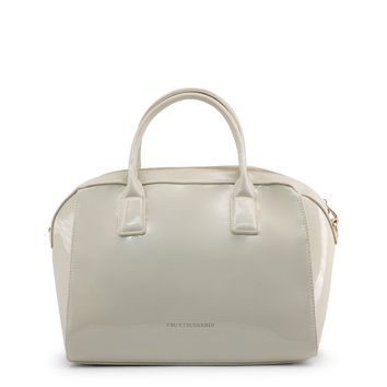 Trussardi White Leather Handbag