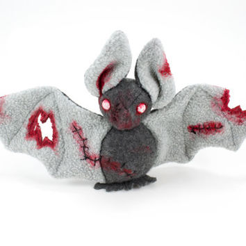 Zombie Bat Stuffed Animal Halloween Plush Toy