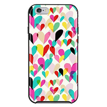 kate spade new york - Confetti Heart Hybrid Hard Shell Case for Apple iPhone 6 - Rainbow
