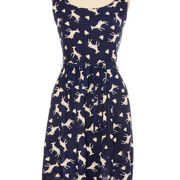 Fawning Over You Deer Print Dress