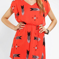 BB Dakota Audrey Flutter-Sleeve Dress
