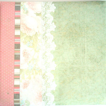 """Complete Scrapbook. 12"""" x 12"""" Floral Album and 16 pre-made pages. Western Brand Blush Scrapbook 12 inch, with stickers and embellishments"""