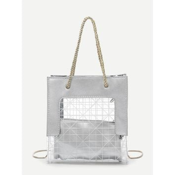 Clear Tote Bag With Clutch