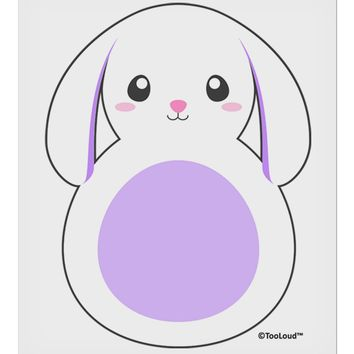 "Cute Bunny with Floppy Ears - Purple 9 x 10.5"" Rectangular Static Wall Cling by TooLoud"