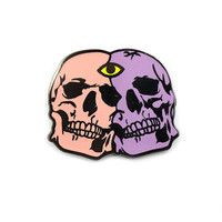 Twin Skulls Lapel Pin (Limited Edition)