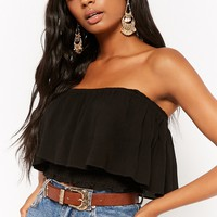 Flounce Tube Crop Top