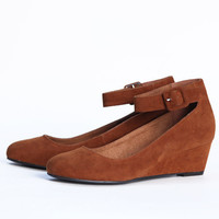 loxley mary jane wedges in cognac - $38.99 : ShopRuche.com, Vintage Inspired Clothing, Affordable Clothes, Eco friendly Fashion