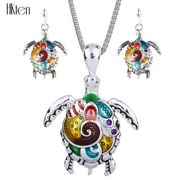 MS1504180 Fashion Jewelry Sets Hight Quality Necklace Sets For Women Jewelry Silver Plated Sea Turtle Unique Design Party Gifts