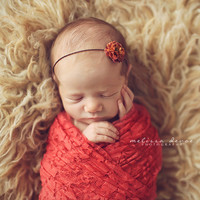 Coral Stretch Lace Wrap Newborn Photography Prop