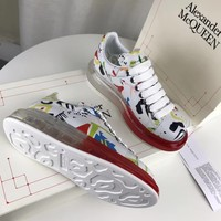 Alexander Mcqueen Graffiti Oversized Sneakers With Air Cushion Sole Reference #22 - Best Online Sale