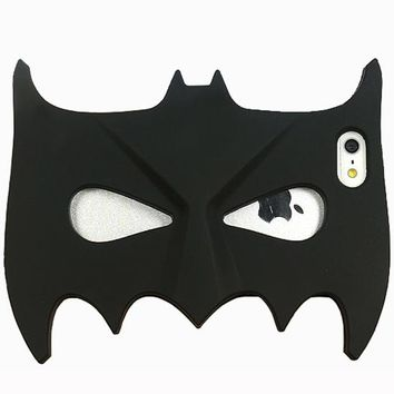 3D Cartoon for iPhone 8 Case Cute Halloween Masquerade Bat Batman Mask Soft Rubber Silicone For iPhone 5 5S SE 6 6S 7 Plus Cover