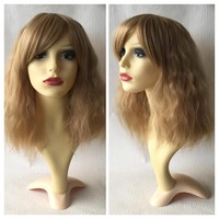 Lion Cub, Blonde Crimped Waves Natural Gothic Lolita Cosplay Wig