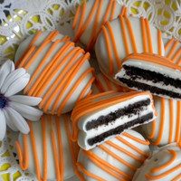 Orange Chocolate Covered Oreos Cookies Party Favors Tangerine Orange Party Favors Baby Shower