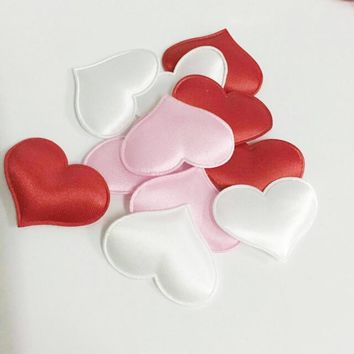 50pcs bag Heart Fabic Wedding Party Confetti Table Decoration Baby Shower Birthday Party Decor Supplies 3.2cm