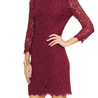Crochet Lace Dress with Half Sleeve