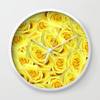 Candlelight Roses Wall Clock by deluxephotos