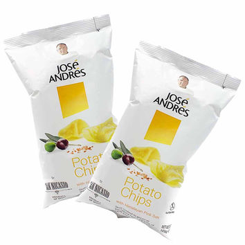 6 Bags of Extra Virgin Olive Oil Chips by Jose Andres Foods - 1.4oz ea