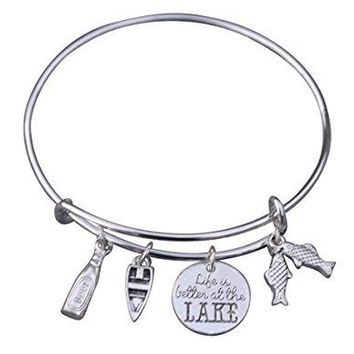 Life is Better at the Lake Bracelet, Lake Girl Jewelry