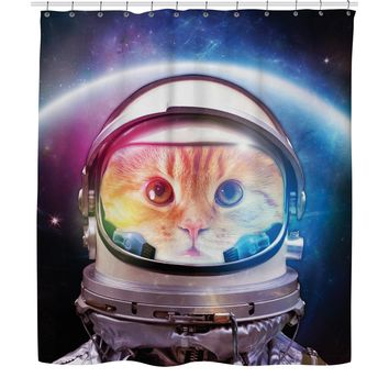 ROSC Space Cat Shower Curtain