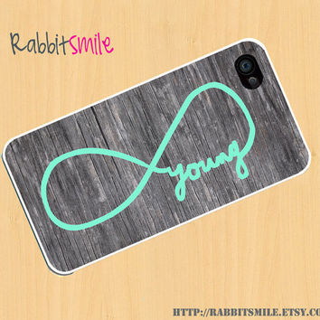 Forever Young On Wood iPhone 4  5 Case Infinity by rabbitsmile