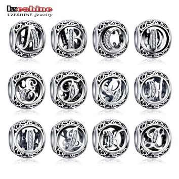 820878425 Dropshiping LZESHINE Authentic Sterling Silver 925 Crystal Alpha