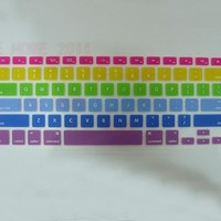Rainbow Silicone Keyboard Cover Skin for MacBook Pro 13 15 17 A1278 A1398