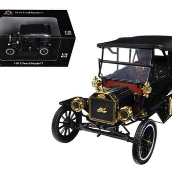 1915 Ford Model T Touring Soft Top Black 1-18 Diecast Car Model by Motorcity Classics