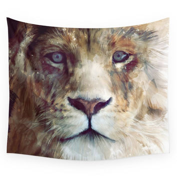 Society6 Lion // Majesty Wall Tapestry