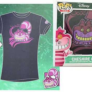 Licensed cool Funko POP! Tees Alice in Wonderland Cheshire Cat JR LADIES #15 T-Shirt & Standee