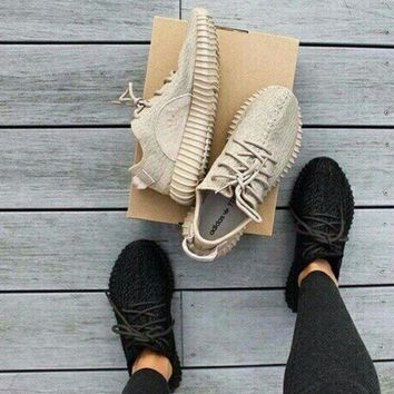 DCCKIJG Fashion 'Adidas' Yeezy Boost Solid color Leisure Sports shoes Khaki