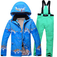 2016 New Women's Ski Suit Windproof Waterproof Winter Snowboard Jacket Warm Thicken Ski Pants Outdoor Female Snow Jacket Skiwear