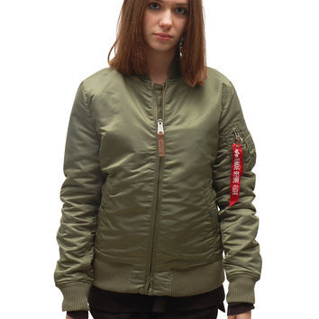 Alpha Industries Bomber Jacket - Green Salvia