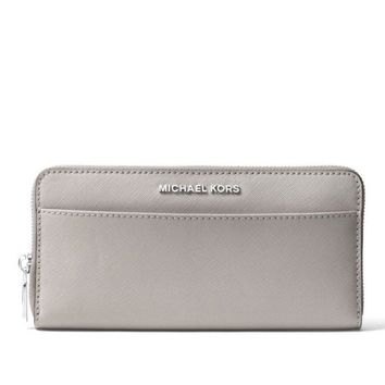 NWT NEW Authentic Michael Kors Jet Set Travel Pocket Continental Wallet