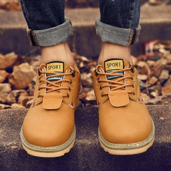 SAGACE 2018 High Quality Men Fashion Dr.Martens Boots Casual Lace Up Leather Low Shoes Boys Casual Shoes