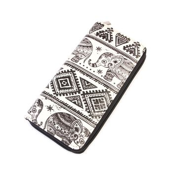 Boho Elephant Zipper Wallet