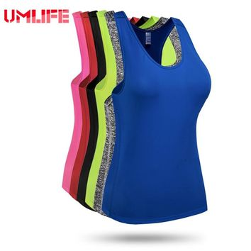 Women Yoga Tank Top Gym Fitness Sleeveless Sports Shirt Elastic Quick-Dry Running Exercise Workout Vest Shirts Training Tops